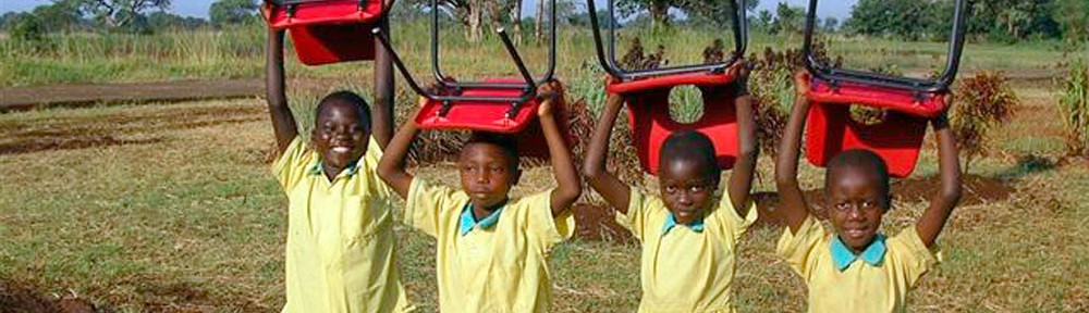 Pupils with school chairs